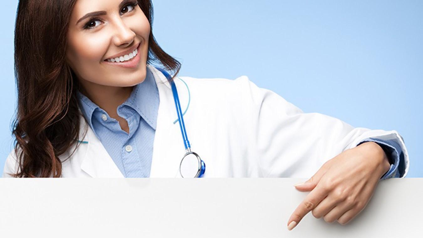 国外医生护士背景的医疗护理PPT模板