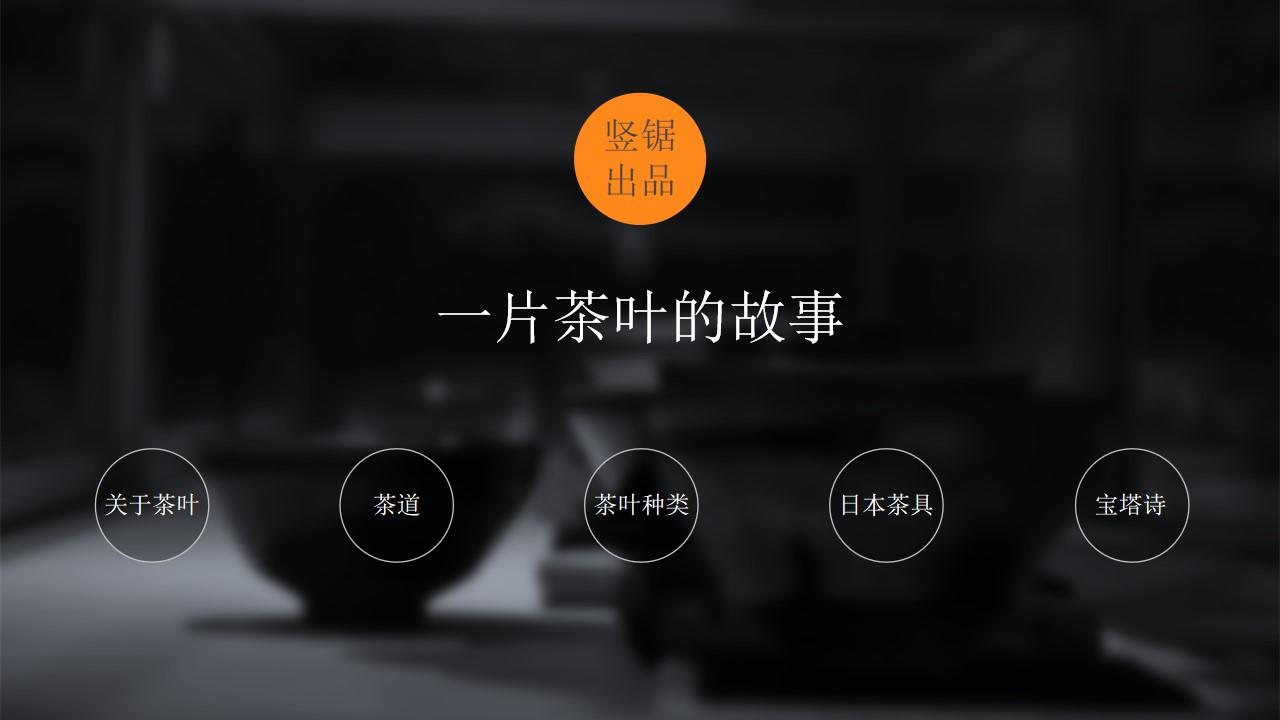 茶叶 茶道 茶具――关于茶文化介绍的PPT模板