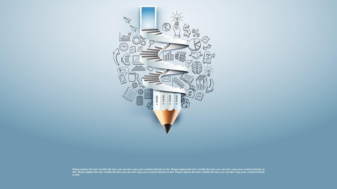 创意手绘铅笔背景的教育培训公开课PPT模板