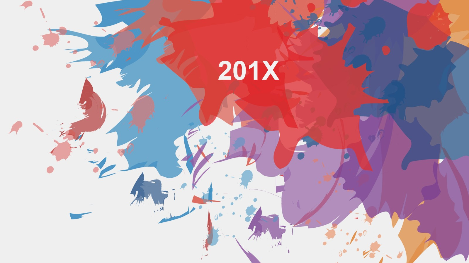 彩色创意颜料背景的艺术设计PPT模板