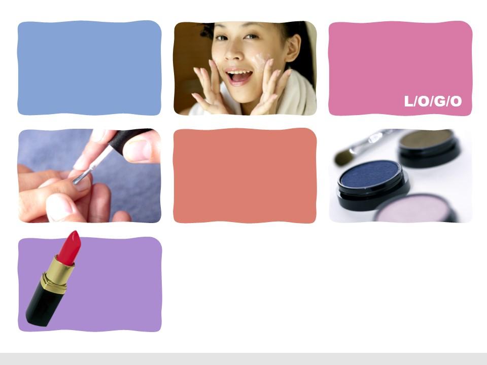时尚女性化妆品美容PPT模板