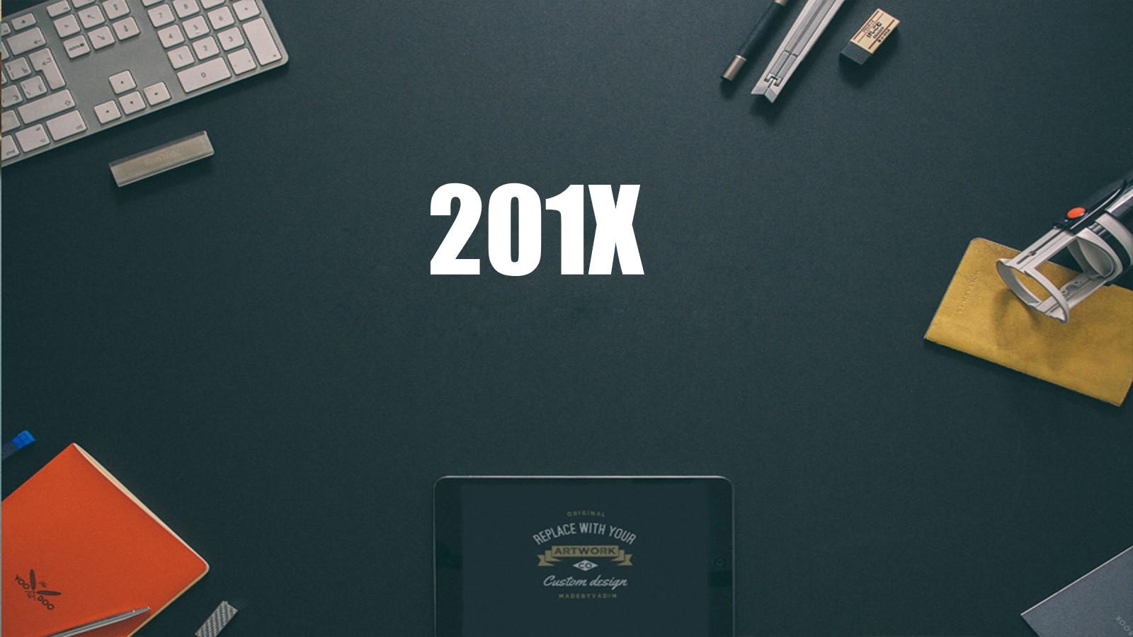 精致灰色办公桌面背景新年工作计划PPT模板