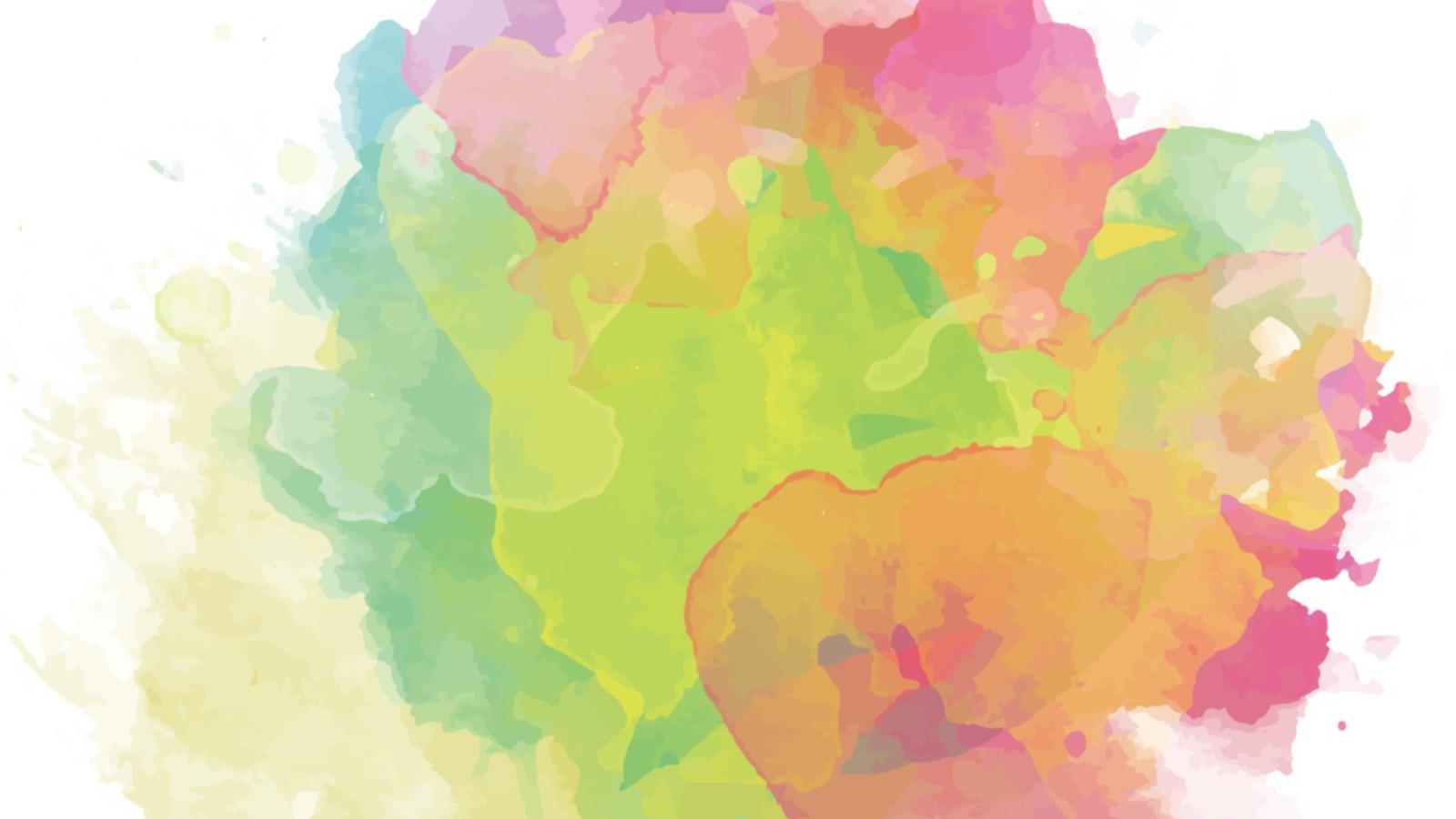 三张彩色水彩PPT背景图片