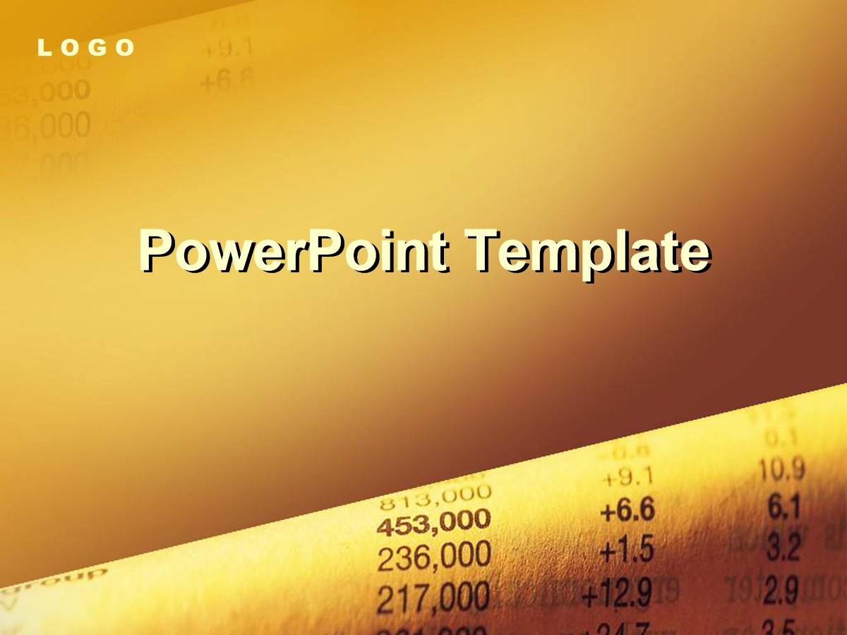 2020金色股票投资金融PPT模板