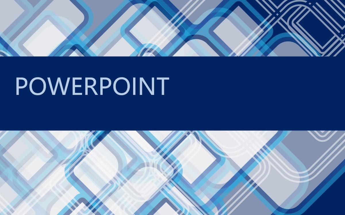 蓝色格子背景抽象艺术PPT模板