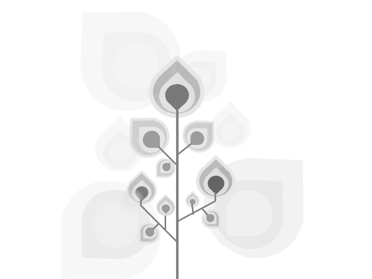 2020黑白背景动态艺术树木生长PPT背景模板