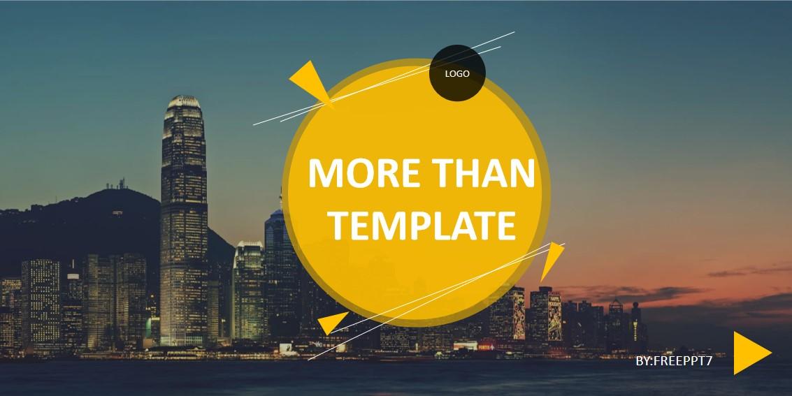 简单风格的业务PowerPoint模板