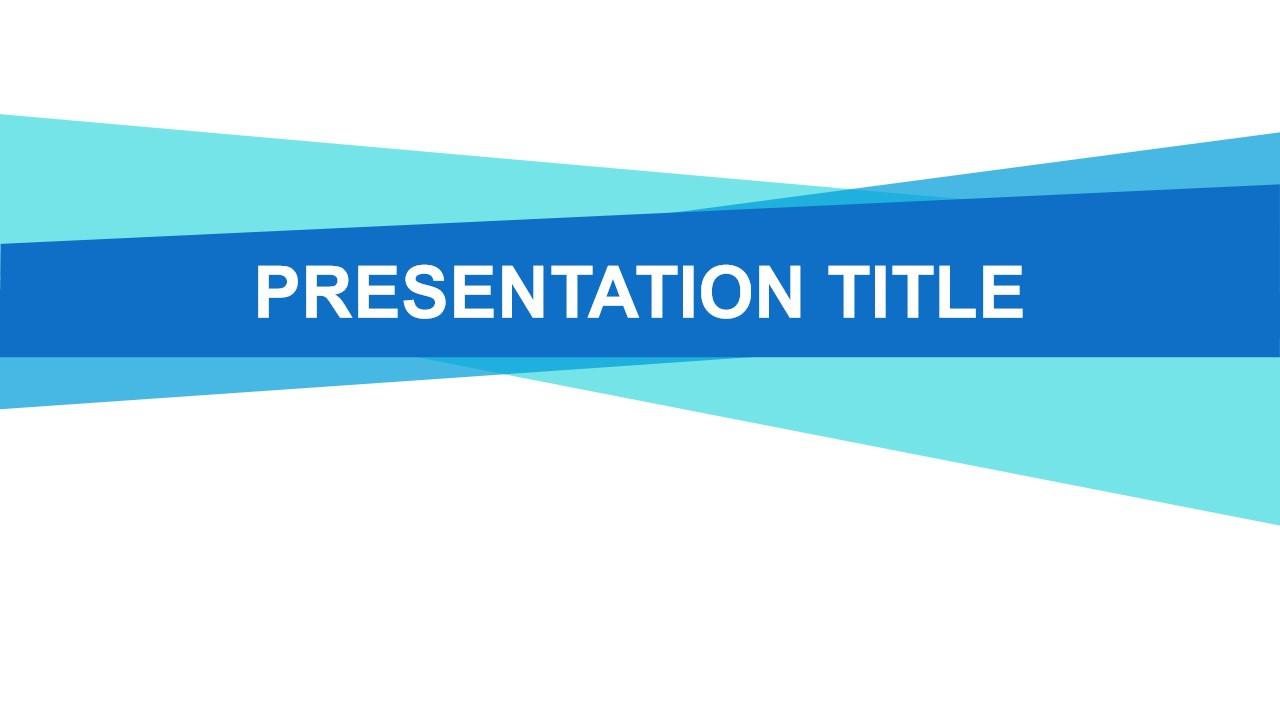 蓝条PowerPoint模板