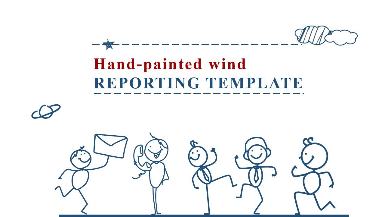 手绘商业报告PowerPoint模板