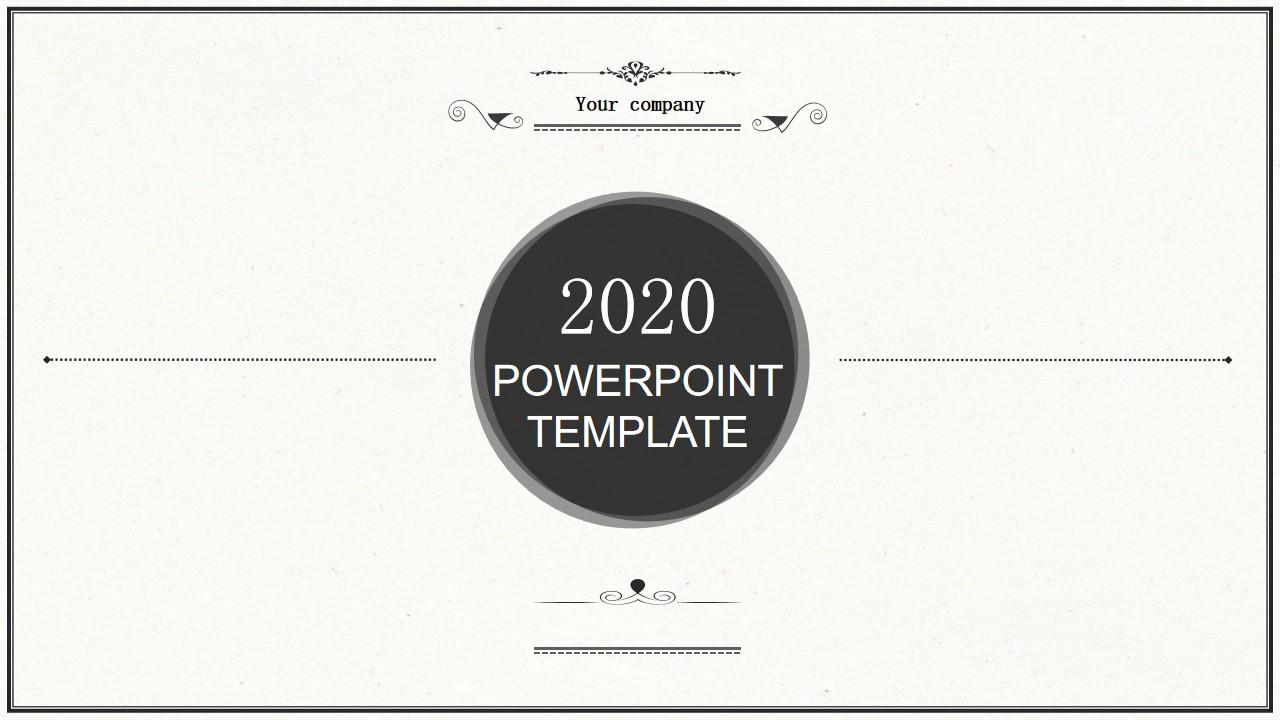 经典复古模式PowerPoint模板