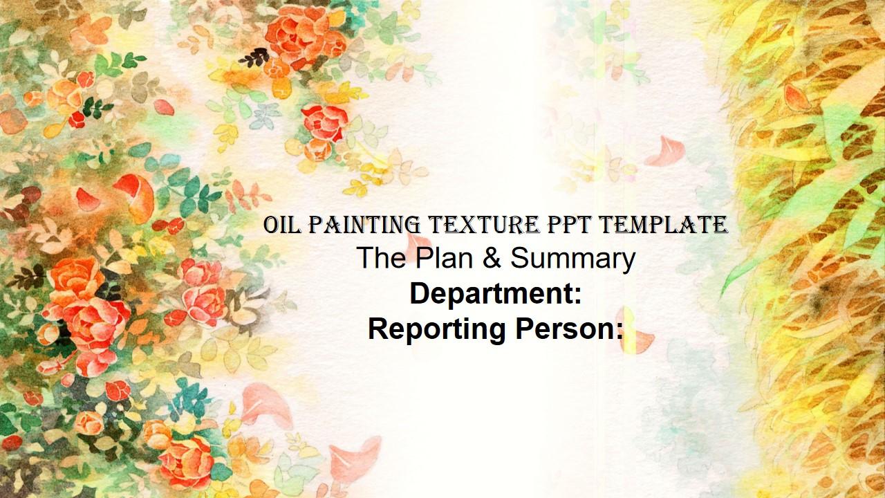 油画纹理PPT模板