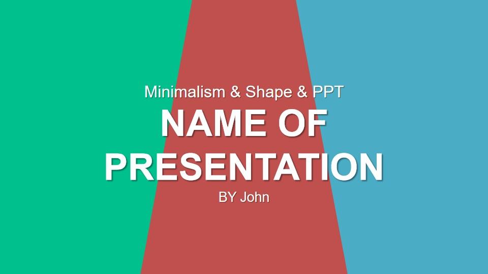 简单的三色PowerPoint模板