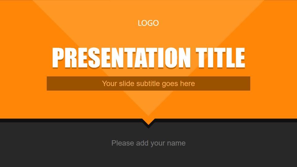 橙色业务报告PowerPoint模板
