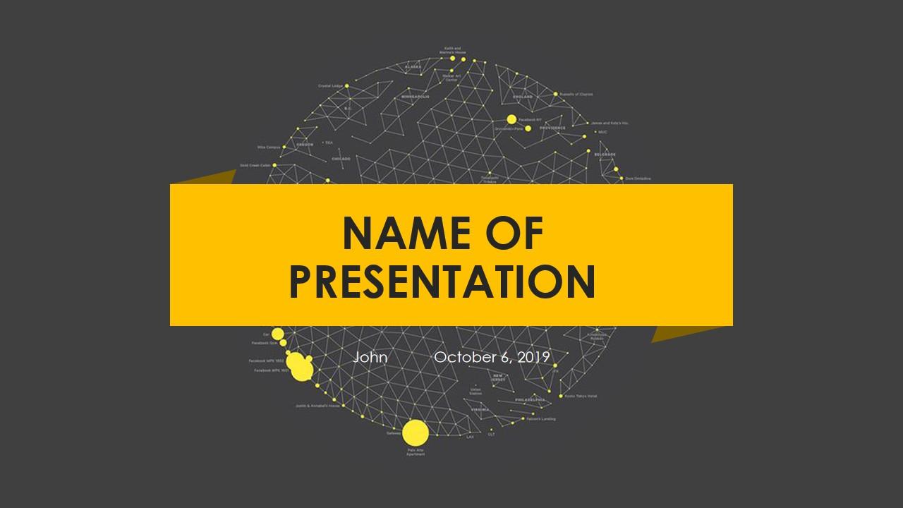 黑色和黄色PowerPoint模板