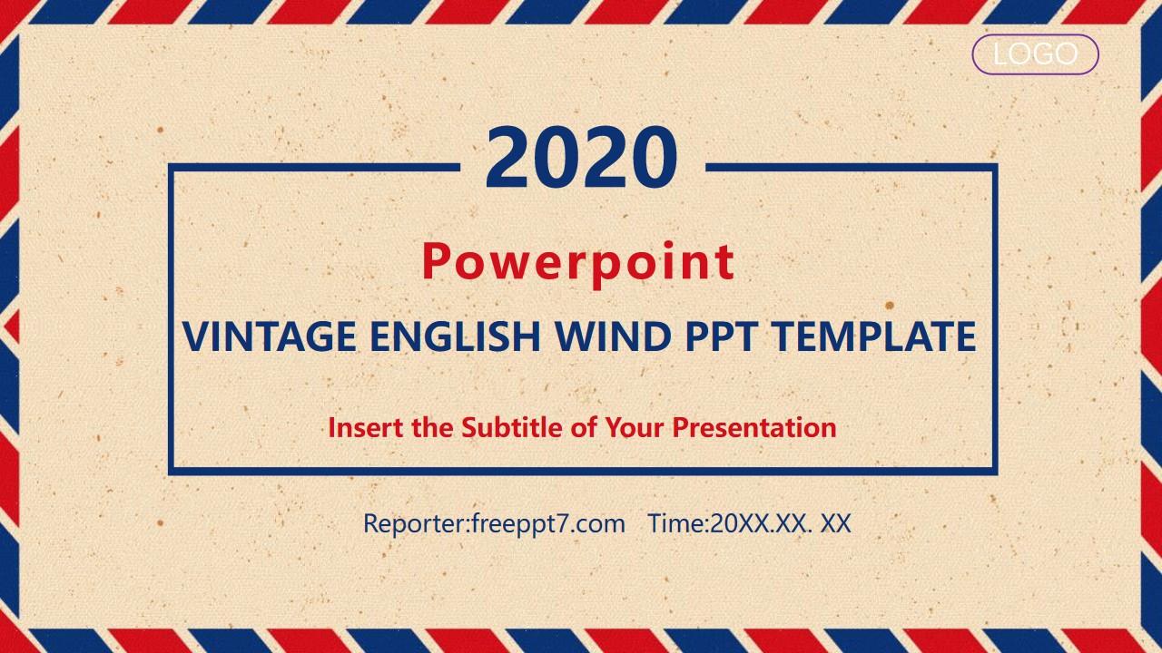 复古英国风PowerPoint模板