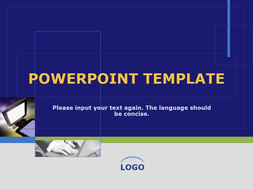 蓝绿色商务PowerPoint模板