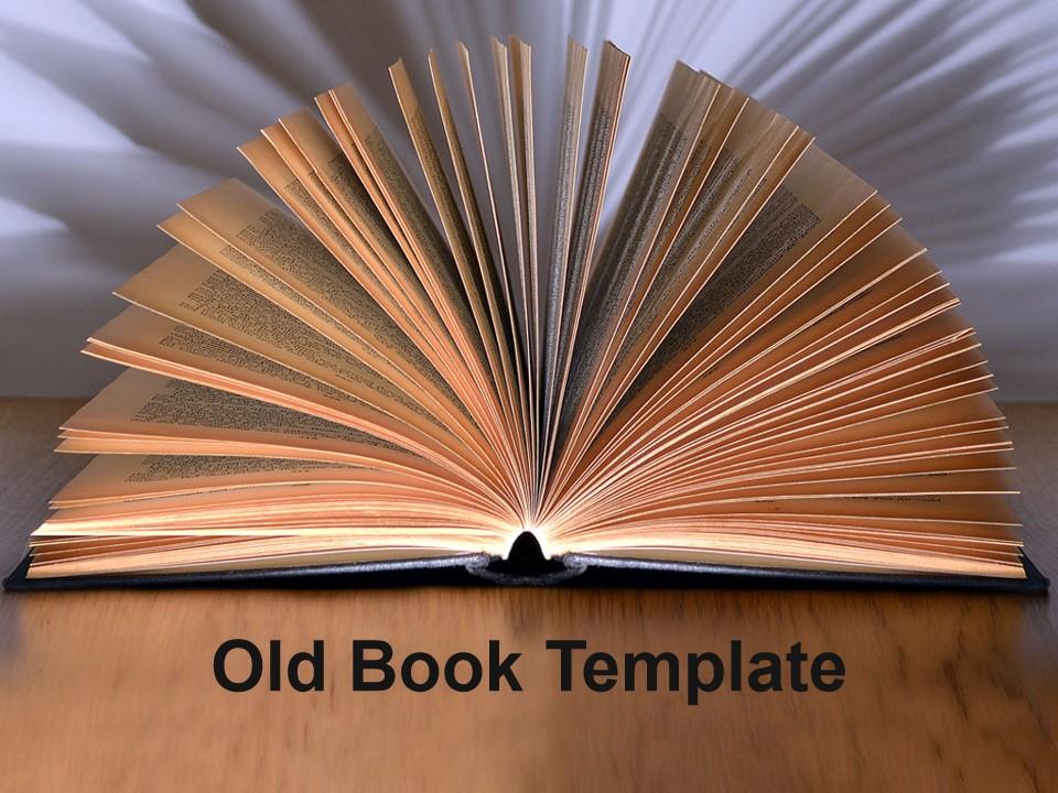 旧书PPT模板