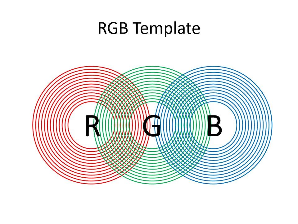 同心圆RGB模板