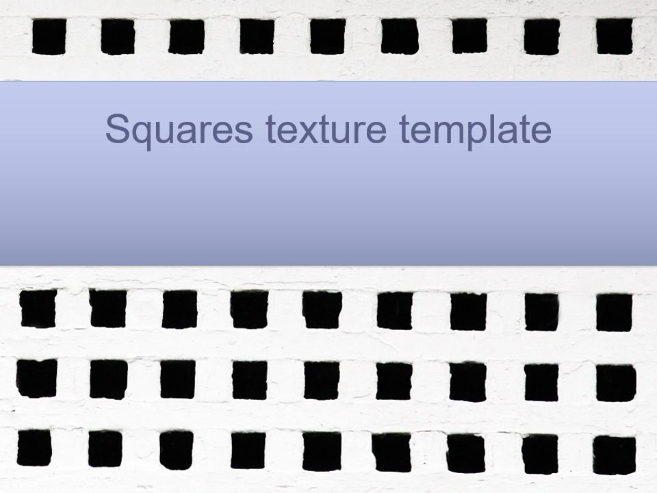 方形纹理PPT模板