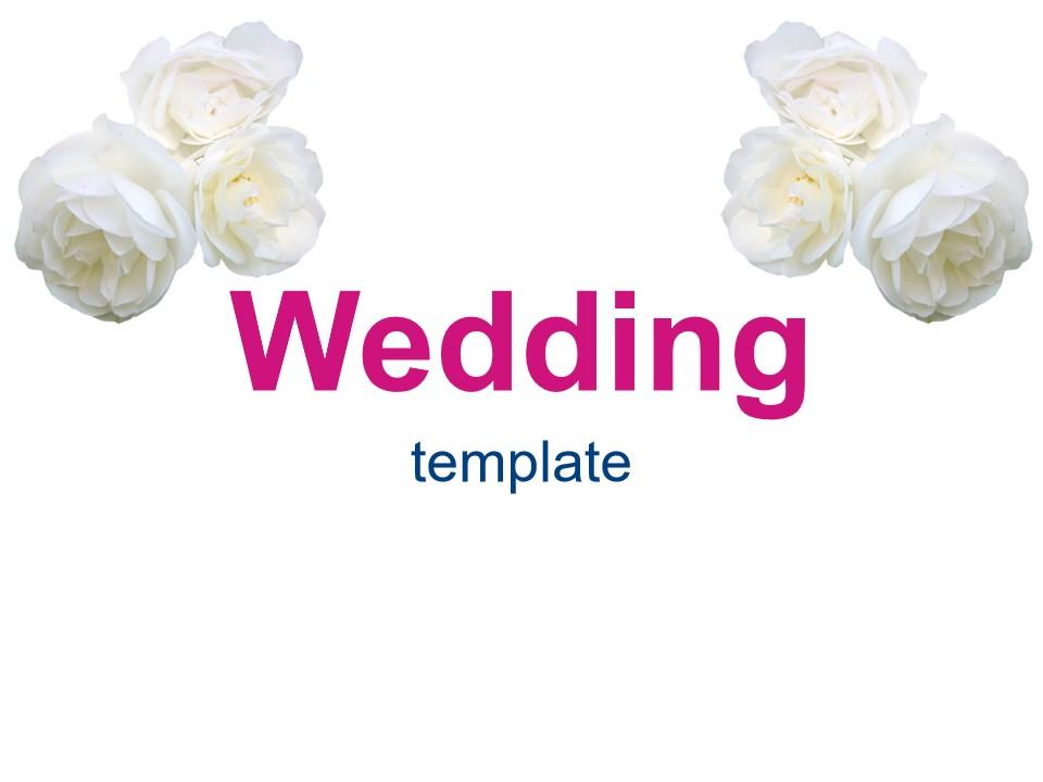 婚礼花模板
