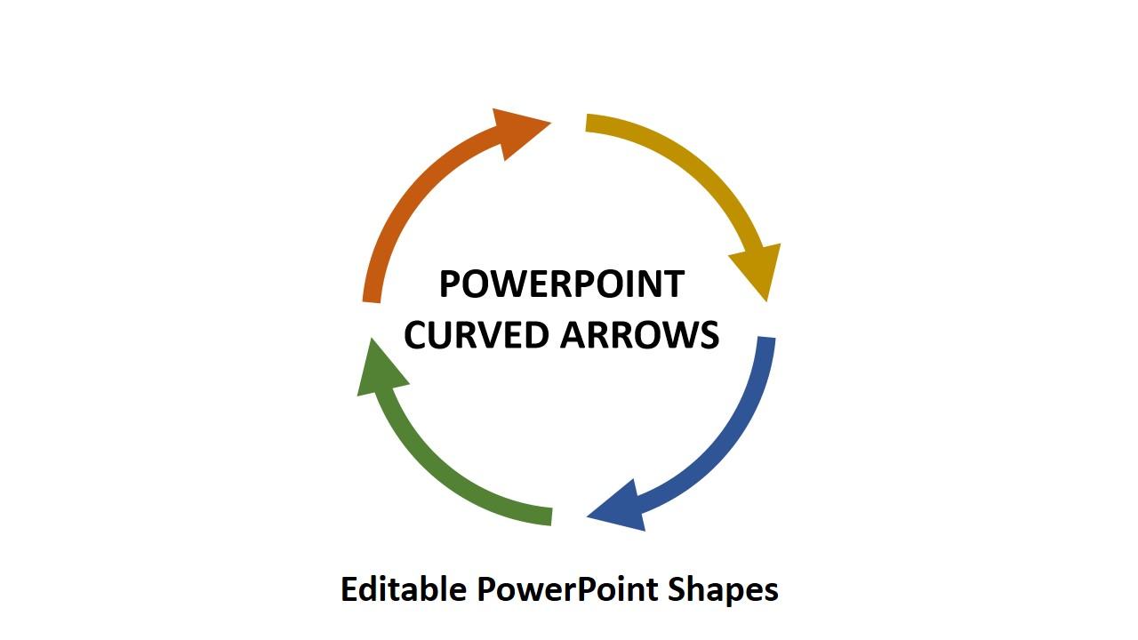 曲线箭头PowerPoint