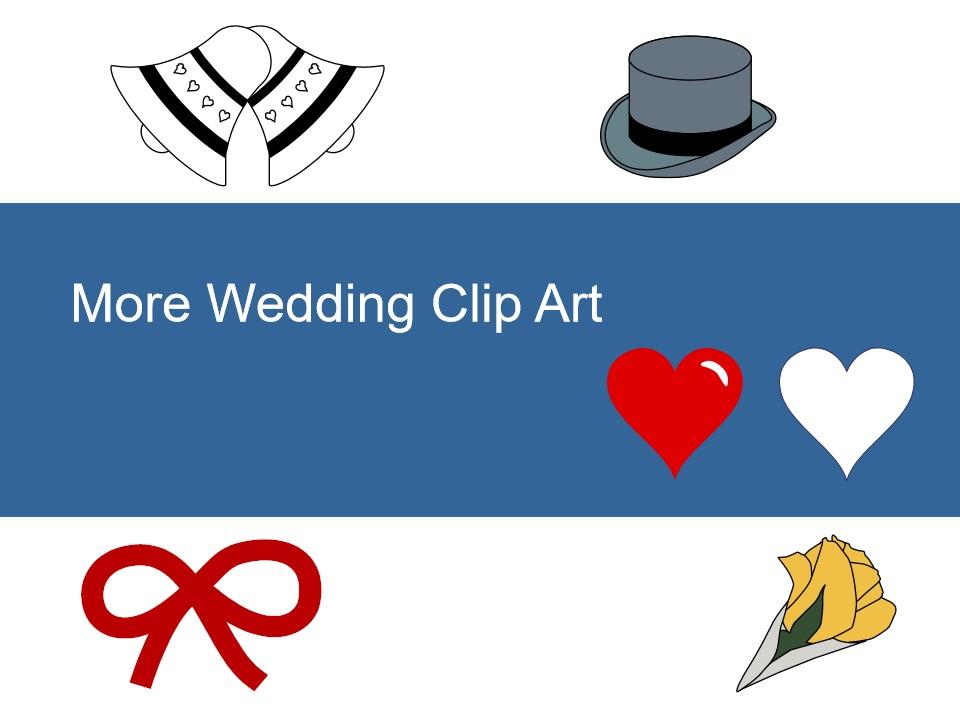 更多免费婚礼剪贴画