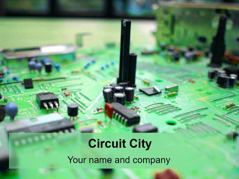 电路城市PPT模板
