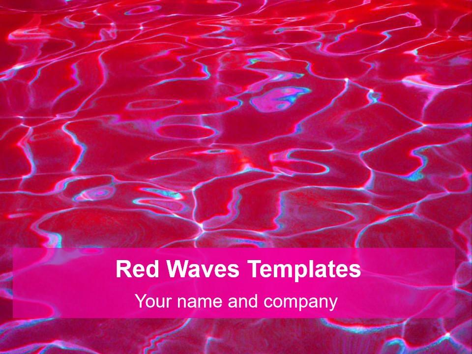 PowerPoint的红色波浪幻灯片