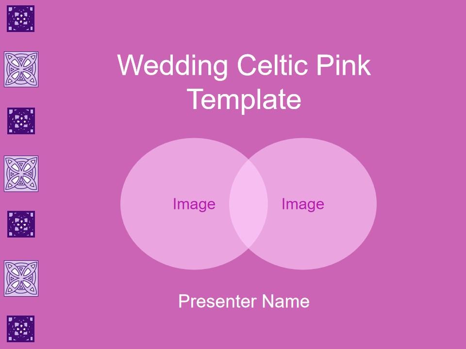婚礼凯尔特粉色模板