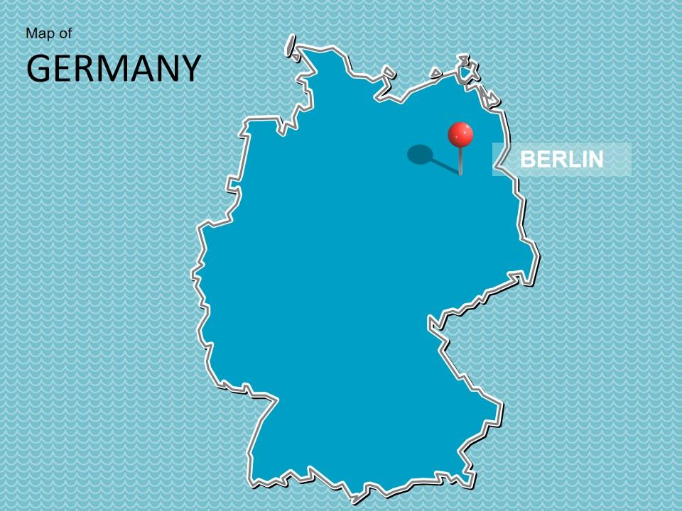 德国地图模板