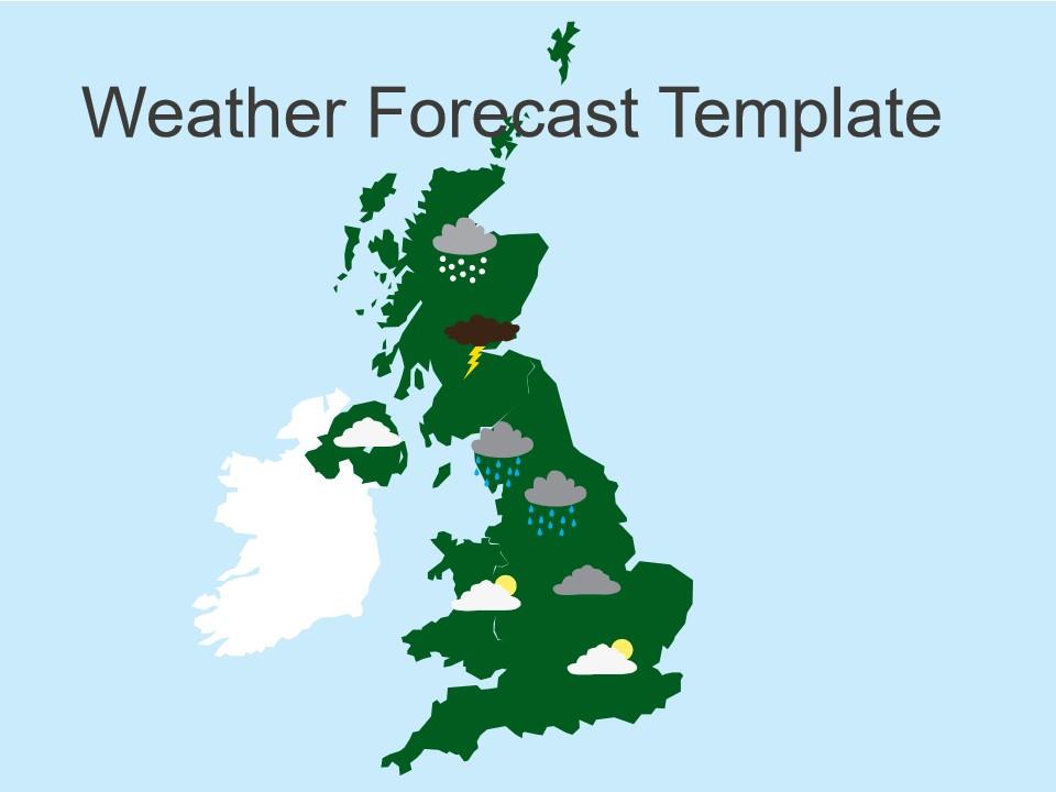天气预报模板