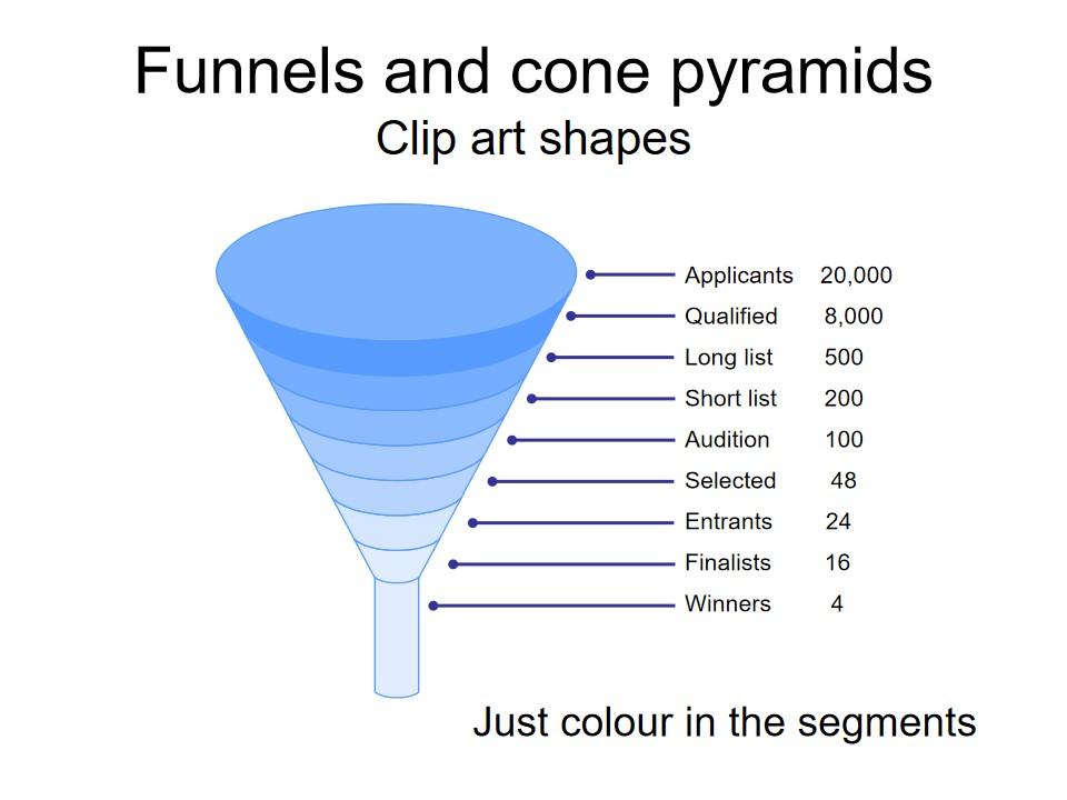漏斗和金字塔剪贴画形状