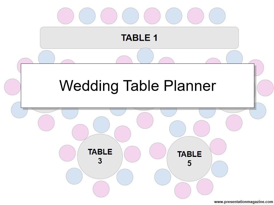 婚礼桌策划器模板