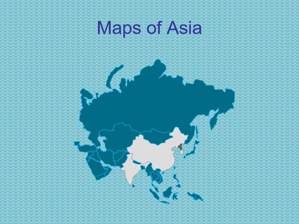 亚洲地图模板