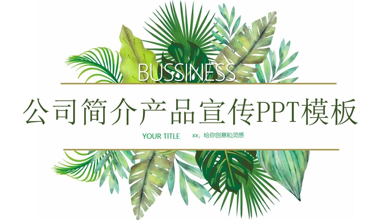 2020公司简介产品宣传PPT模板