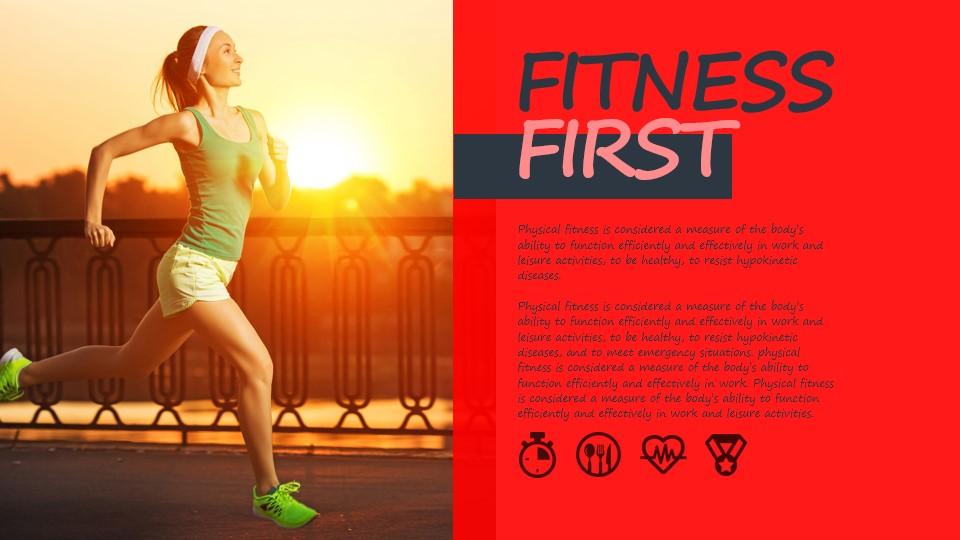 动态健康生活运动PPT模板板式素材