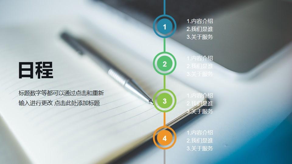 全图型PPT目录模板页