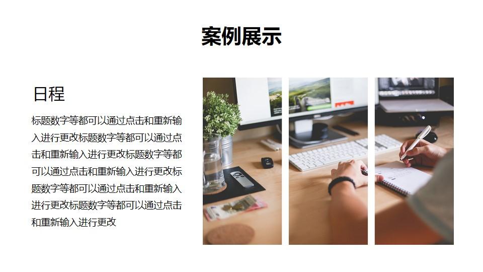 图片栅格化风格图文排版样式PPT模板