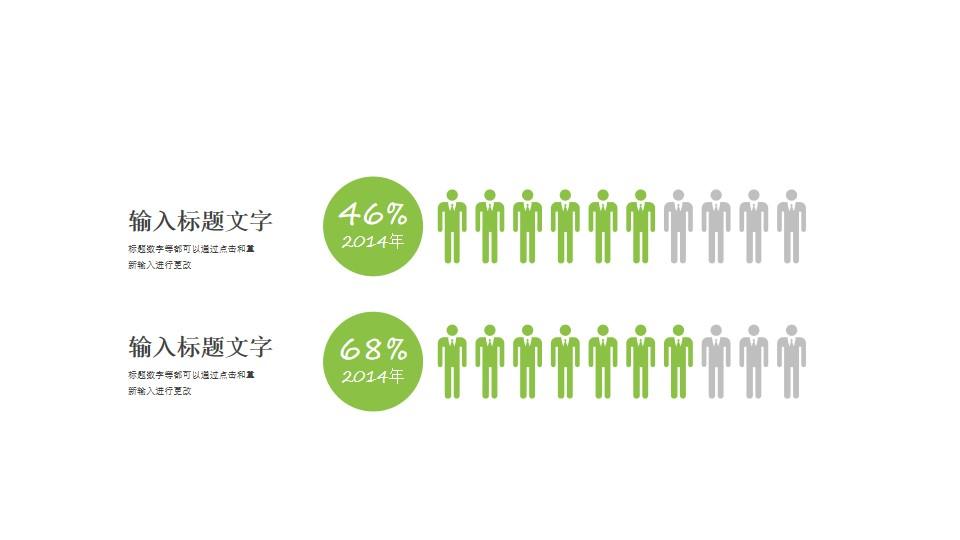 男女比例对比分析数据分析PPT素材