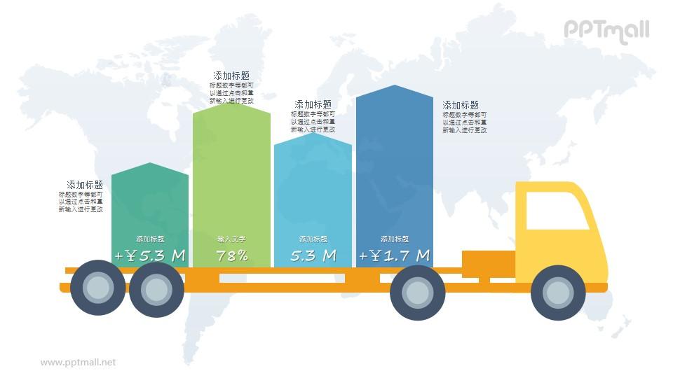 货运物流PPT图示素材