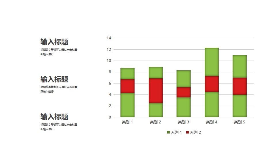 高亮数据的柱状图PPT图示