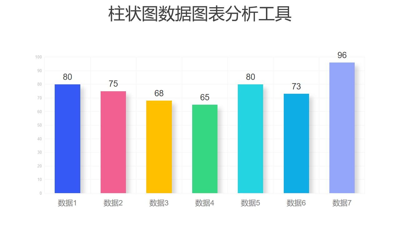 彩色柱状图数据分析PPT图表