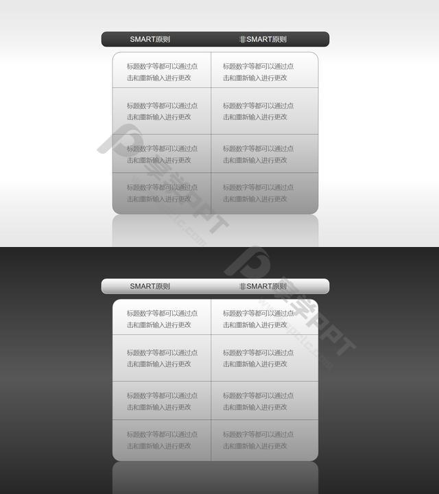 SMART原则(系列-08)PPT模板长图