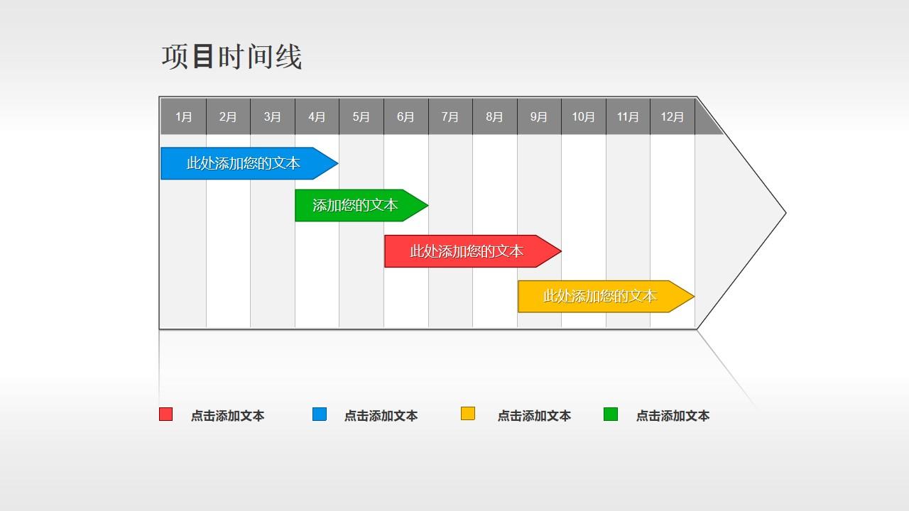 年度的项目进度时间线PPT素材