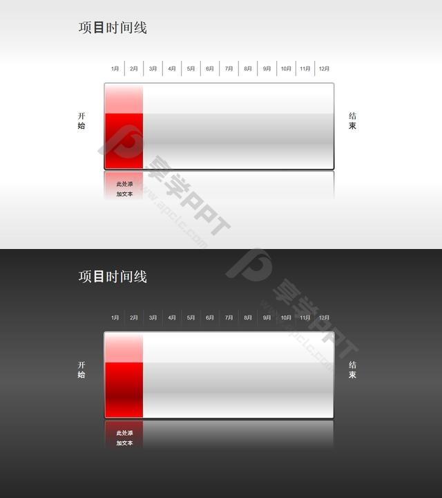 以电池充电表达项目进度的时间线素材(1)长图